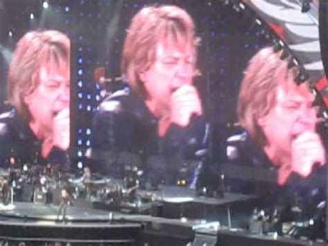 Bon Jovi You Give Love Bad Name Commonwealth Stadium