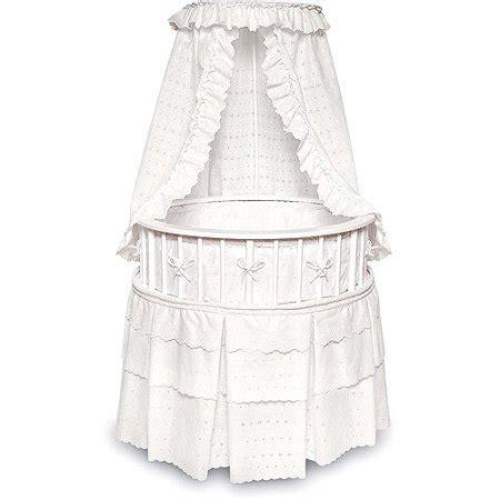 badger basket white elegance  baby bassinet white