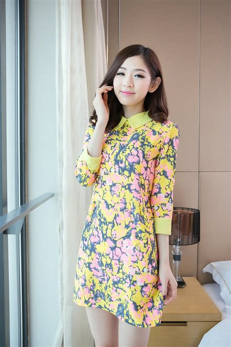 Wholesale girls dress korean designers E8238 Yellow [E8238] $8.88  Yuki Wholesale Clothing ...