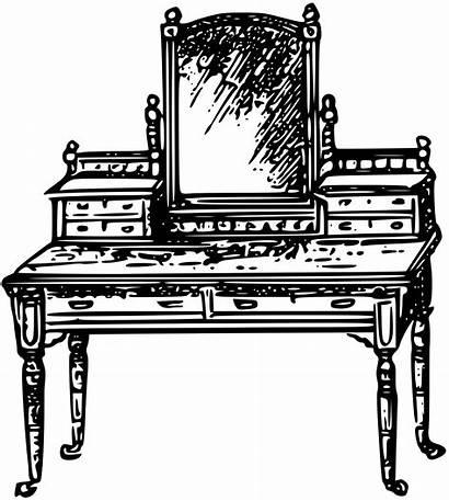 Clipart Furniture Transparent Chair Antique Clip Table
