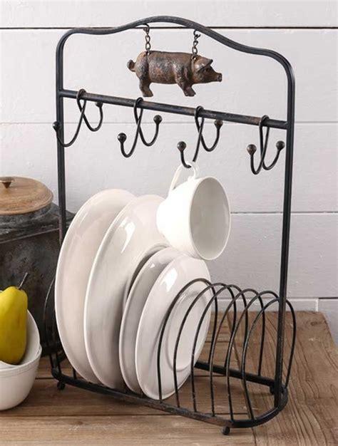 farmhouse plate rack  hooks plate racks modern kitchen appliances