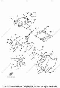 Yamaha Atv 2010 Oem Parts Diagram For Side Cover