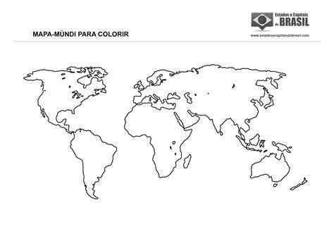 Mapa Mundi Para Imprimir E Colorir