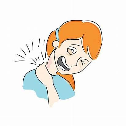 Pain Neck Clipart Cartoon Clip Idioms Shoulder