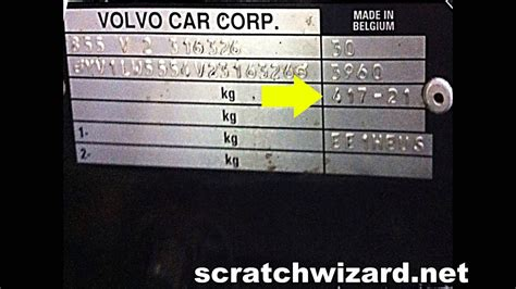find  volvos paint code youtube