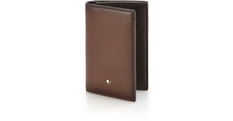 Montblanc Italian Leather Business Card Holder In Brown Business Card Number Crossword Clue Credit In Personal Name Services Online Without Company Origami Holder Diy Standard Size Nz Just No