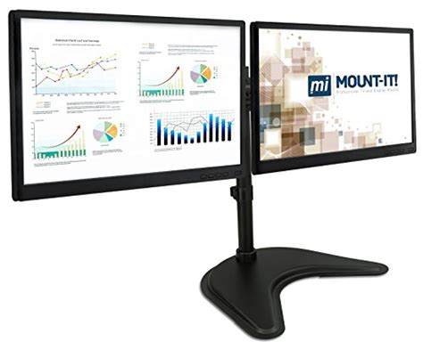 desk depth for 24 monitor mount it mi 1781 dual monitor desk stand lcd mount