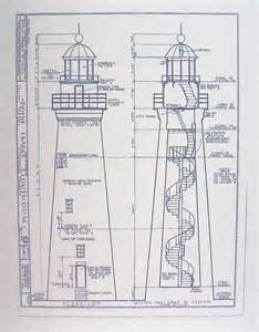 free house blueprints and plans point lighthouse blueprint by blueprintplace on etsy