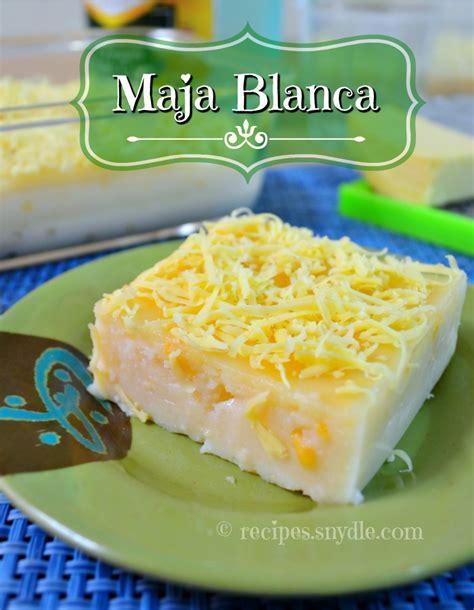 maja blanca recipe  condensed milk