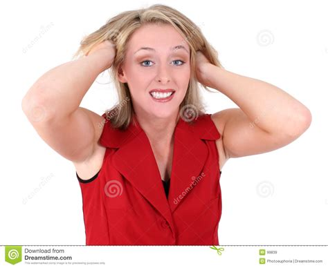 business woman pull hair  frustrated royalty  stock