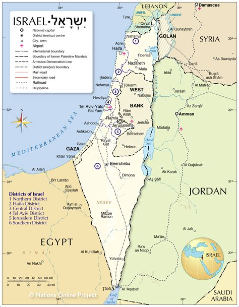 political map  israel nations  project