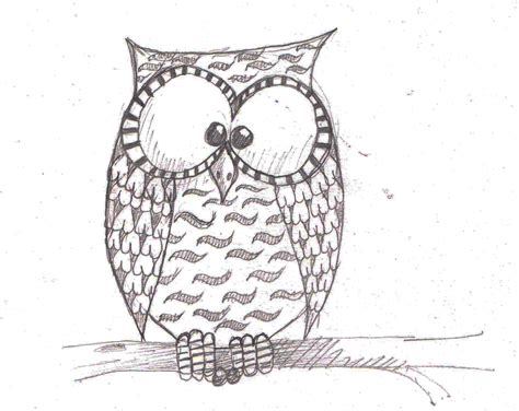 simple owl drawings easy owl doodle www pixshark images galleries with