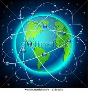 Neon High Detailed munication Earth Vector