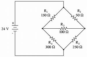 mesh current method and analysis dc network analysis With what is the equivalent resistance of the five resistors in the circuit