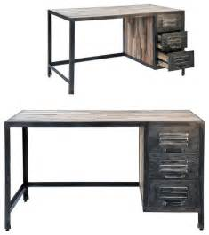 Monarch Specialties Hollow Core Corner Desk by Spike Industrial 3 Drawer Desk Eclectic Desks And
