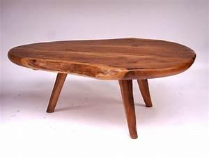Table Basse En Bois D39olivier Circa 1950 Paul Bert Serpette