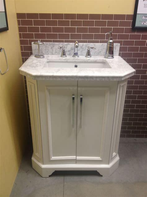 allen roth delancy  vanity  lowes carrara marble top