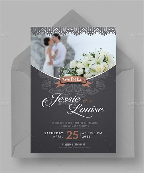 examples  wedding invitations psd ai eps