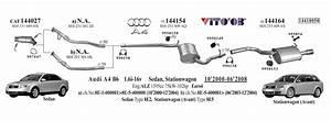 Audi A4 Exhaust System Diagram