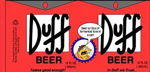 col milquetoast39s blog halloween With duff beer label