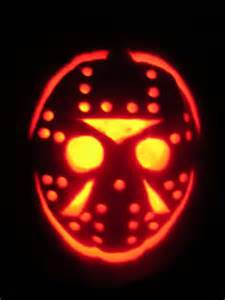 Jason Mask Pumpkin Stencil by Hayes Hudson S House Of Horror October 2009