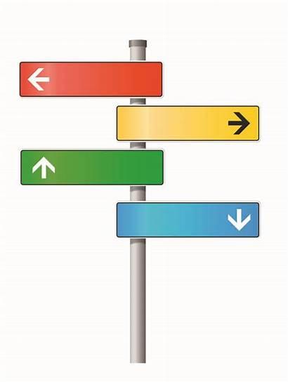 Signpost Clipart Vector Blank Ways Google Fine