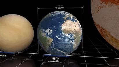 Earth Planets Comparison Universe Different Stars Compared