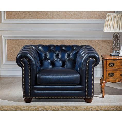 Leather Chesterfield Loveseat by Amax Nebraska Chesterfield Genuine Leather Sofa Loveseat