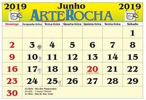 ARTEROCHA CALENDÁRIO MÊS DE JUNHO 2019