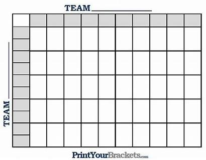 Football Pool Square Squares Printable Grid Bowl