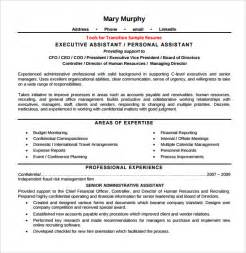 assistant skills for resume sle executive assistant resume 6 exles format