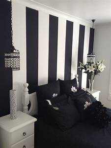 inspiring Painted Wall Designs For Bed room by black white ...
