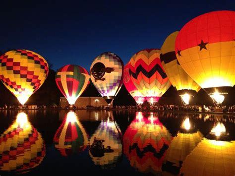 hd hot air balloon festival night glow wallpaper