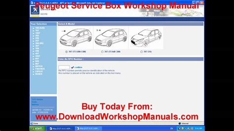 Peugeot Workshop Manual