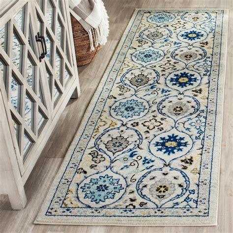 rugs for kitchen floors safavieh evoke ivory blue 2 ft 2 in x 7 ft runner 4951