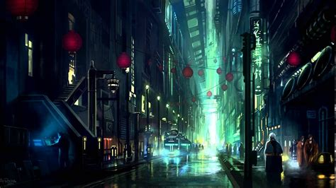 sci fi cyberpunk city ambience sounds youtube