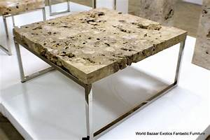 40quot square coffee table fine quality special stone top for Metal coffee table with stone top