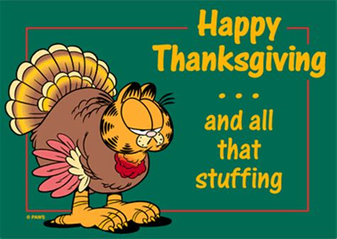 garfield thanksgiving thanksgiving myniceprofilecom