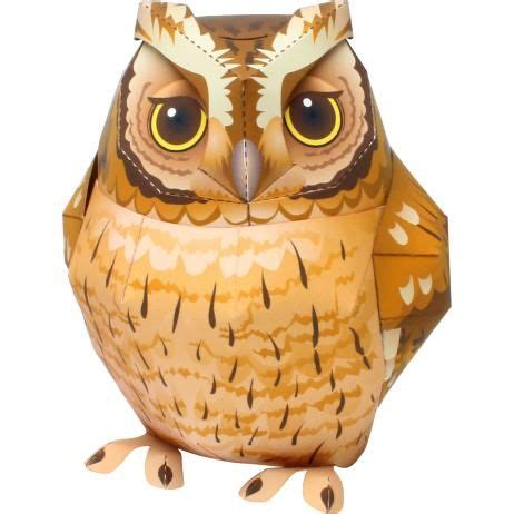 owl paper toys canon papercraft animal paper model tropical screech 2590