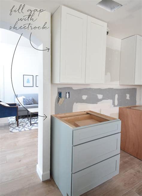 Cabinet Filler Install by Kitchen Cabinet Installation Centsational