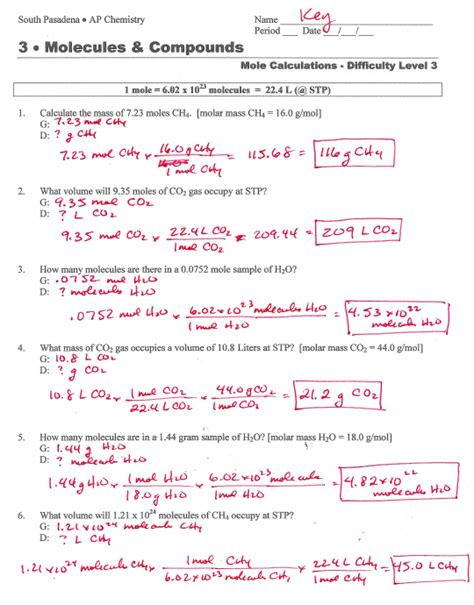 Collection Of Mole Ratio Worksheet Answer Key  Download Them And Try To Solve