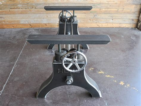 Hure Crank Table Base   Vintage Industrial Furniture