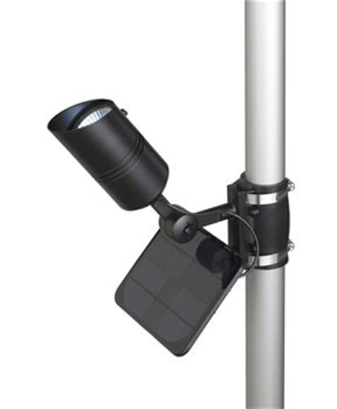 solar powered flag pole lighting envirogadget
