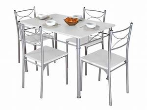 Conforama Table Et Chaise : ensemble table rectangulaire 4 chaises tuti coloris ~ Dailycaller-alerts.com Idées de Décoration
