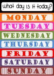 days   week poster esl worksheet  elenarobles