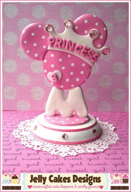 princess minnie topper  pink  jelly cakes designs