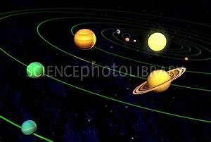 Solar System Without Pluto - Stock Image R300/0289 ...