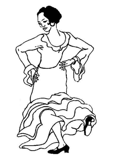 Kleurplaat Spaanse Jongens Danser by Kleurplaat Flamenco Danseres Afb 19007 Images