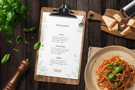 kitchen ready restaurant menu mockup creativebooster