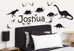 dinosaur silhouettes with any custom name wall stickers With awesome dinosaur silhouette wall decals